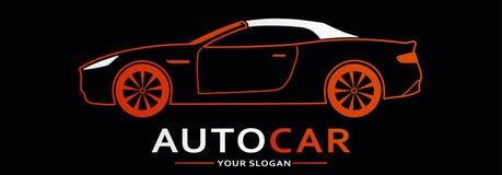 Bil Logo Abstract Lines Vector också vektor för coreldrawillustration Royaltyfria Foton