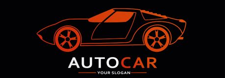 Bil Logo Abstract Lines Vector också vektor för coreldrawillustration Arkivbilder