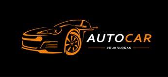 Bil Logo Abstract Lines Vector också vektor för coreldrawillustration Fotografering för Bildbyråer