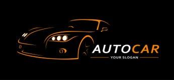 Bil Logo Abstract Lines Vector också vektor för coreldrawillustration Royaltyfria Bilder
