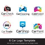 Bil Logo Template Design Vector Royaltyfri Illustrationer