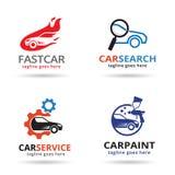 Bil Logo Template Design Vector Arkivfoton