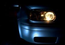 Bil med ljus på Royaltyfria Bilder