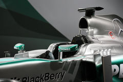 Bil Mercedes F1 W04 för formel 1 Arkivbilder