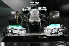 Bil Mercedes F1 W04 för formel 1 Arkivfoton