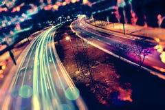 Bil och abstrakt begrepp för hastighet arkivfoto