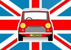 Bil och flagga Arkivbild