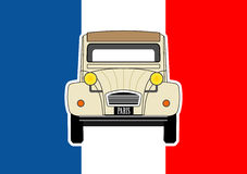Bil och flagga Arkivbilder