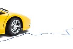 Bil och graf Fotografering för Bildbyråer