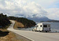 Bil och husvagn Arkivfoton