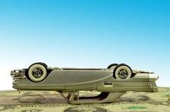 Bil och pengar royaltyfri bild