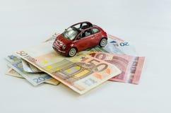 Bil och pengar Arkivfoto