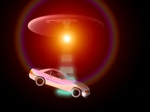 Bil och UFO 67 Fotografering för Bildbyråer