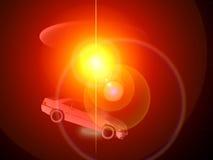 Bil och UFO 68 Arkivbild