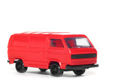 bil plast- toy skåpbil vw Arkivbild