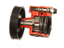 Bil pump för lastbilbältevatten Arkivbilder