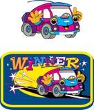Bil roliga leksaker, tecknade filmer royaltyfri fotografi