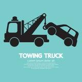 Bil som bogserar lastbilen Fotografering för Bildbyråer