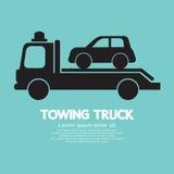 Bil som bogserar lastbilen Arkivfoton
