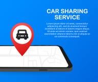 Bil som delar den tjänste- advertizingwebbsidamallen Baner av hyraautomatiskservice Handelbilar och uthyrnings- bilar vektor illustrationer