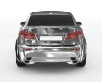 Bil som isoleras på vit - krom, tonat exponeringsglas - tillbaka sikt Fotografering för Bildbyråer