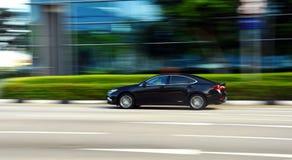 Bil som panorerar skottet Royaltyfria Foton