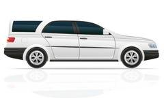 Bil som turnerar vektorillustrationen Arkivfoton