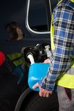 Bil ut ur bränsle Fotografering för Bildbyråer
