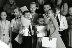 Bila Tserkva, Ουκρανία 22 Φεβρουαρίου 2013 διεθνές ανοικτό danc Στοκ Φωτογραφίες