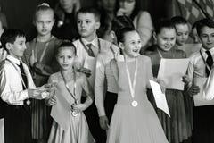 Bila Tserkva, de Oekraïne 22 februari, Internationale open danc van 2013 Royalty-vrije Stock Fotografie
