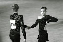 Bila Tserkva, Ucrânia 22 de fevereiro de 2013 danc aberto do International Foto de Stock Royalty Free