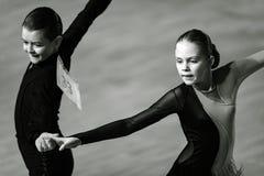 Bila Tserkva, Ukraina Luty 22, 2013 zawody międzynarodowi otwarty danc Obrazy Stock