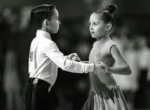 Bila Tserkva, Ukraina Luty 22, 2013 zawody międzynarodowi otwarty danc Zdjęcia Stock