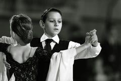 Bila Tserkva, Ukraina Luty 22, 2013 zawody międzynarodowi otwarty danc Obraz Stock