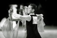 Bila Tserkva, Ukraina Luty 22, 2013 zawody międzynarodowi otwarty danc Obraz Royalty Free