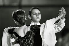 Bila Tserkva, Ukraina Luty 22, 2013 zawody międzynarodowi otwarty danc Fotografia Royalty Free