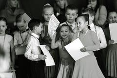 Bila Tserkva, Ukraina Luty 22, 2013 zawody międzynarodowi otwarty danc Zdjęcie Royalty Free