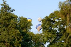 The view on balloons are over Olexandria Park Royalty Free Stock Photography