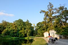 The view on balloons are over Olexandria Park Royalty Free Stock Photo