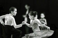 Bila Tserkva, Ukraine. February 22, 2013 International open danc Royalty Free Stock Photos