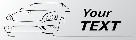 Bilabstrakt begrepp fodrar vektorillustrationen Royaltyfri Fotografi