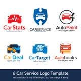 Bilaffär Logo Template Design Fotografering för Bildbyråer