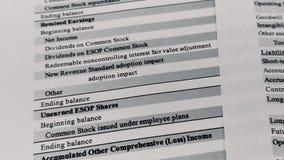 Bilan du relev? de compte financier, analyse de plan d'action pour des actionnaires clips vidéos
