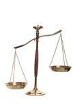 Bilancia della giustizia Immagine Stock