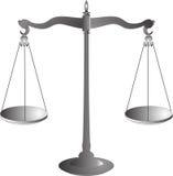 Bilancia il simbolo di giustizia Fotografia Stock