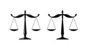 Bilancia, logo giudiziario delle scale Notaio, giustizia, icona dell'avvocato o simbolo Illustrazione di vettore royalty illustrazione gratis