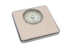 Bilancia pesa-persone rosa d'annata Fotografia Stock Libera da Diritti