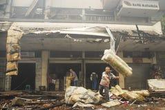 BILANCIO IN AUMENTO DELL'INFRASTRUTTURA DELL'INDONESIA Immagini Stock Libere da Diritti