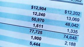 Bilancio del rendiconto finanziario, analisi del business plan per gli azionisti video d archivio
