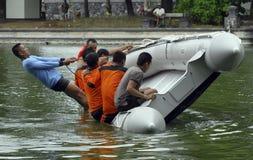 BILANCIO DELLA GESTIONE DEI DISASTRI DELL'INDONESIA Fotografie Stock